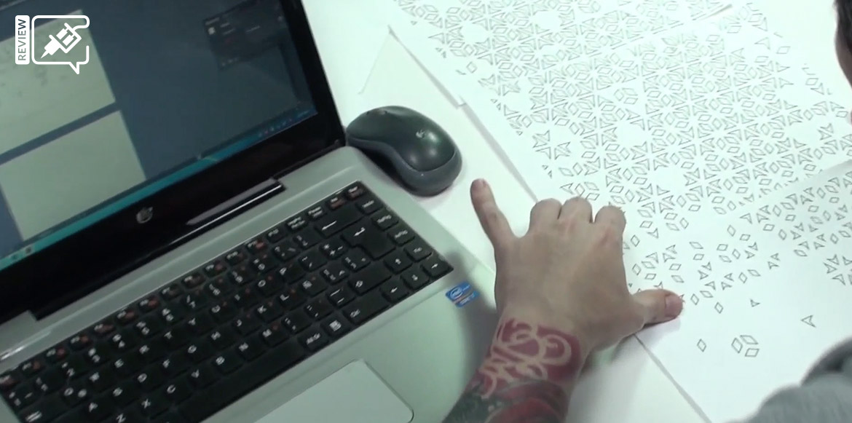 Impresión y preparación de la plantilla del tatuaje geométrico