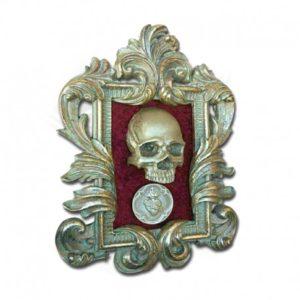 Cuadro Skullture Golden Skull