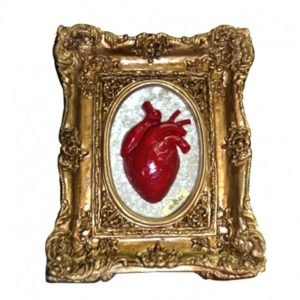 Cuadro Skullture Golden Red Heart