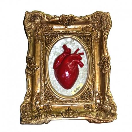 Cuadro Skullture Golden Red Heart
