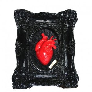 Cuadro Skullture Black Red Heart